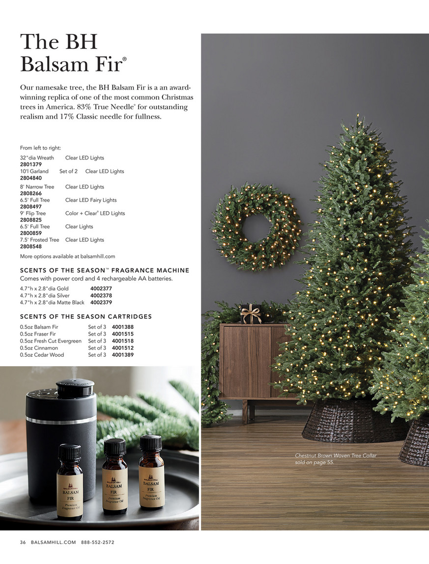 Balsam Hill 2019 Holiday 2 6 5 Balsam Fir Artificial Christmas Tree