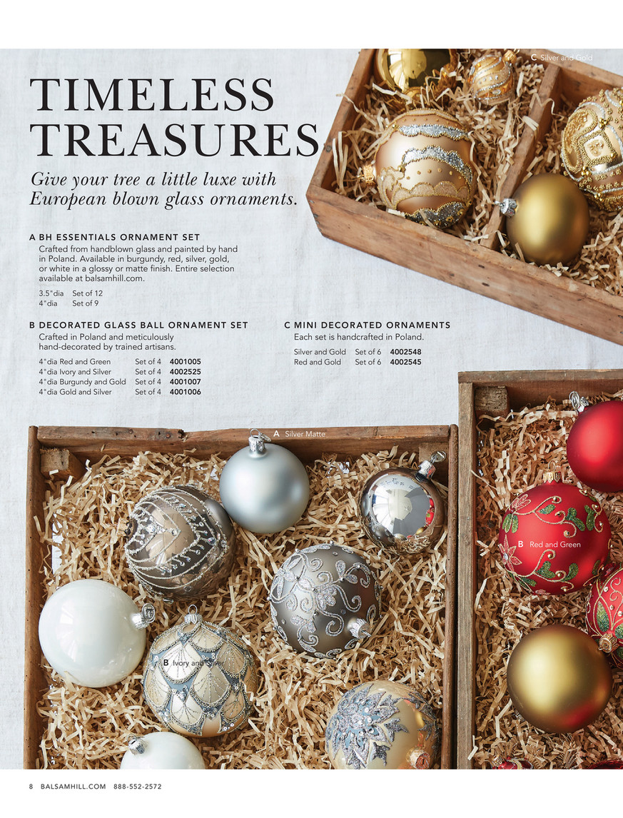 Balsam Hill 2019 Holiday 2 Set Of 12 Bh Essentials Small Silver Matte Ornament Set