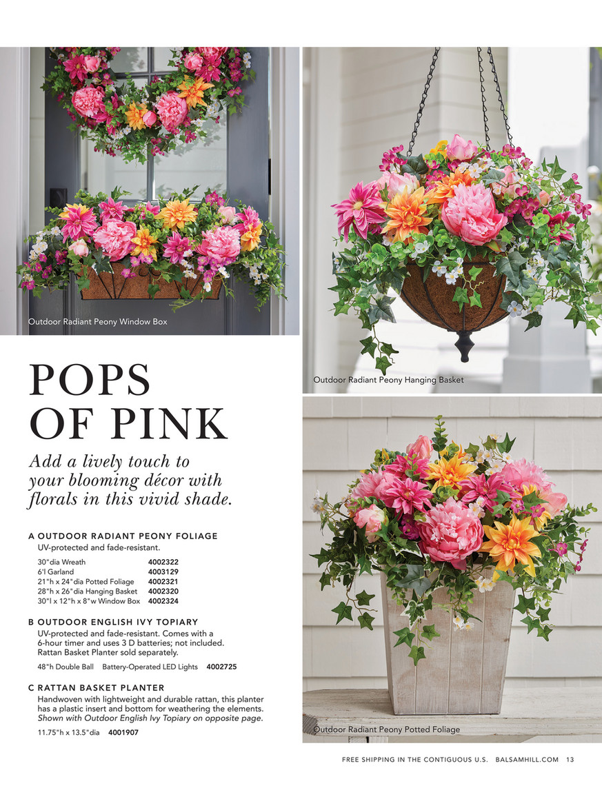Balsam Hill 2020 Spring 2 Outdoor English Ivy Double Ball Topiary