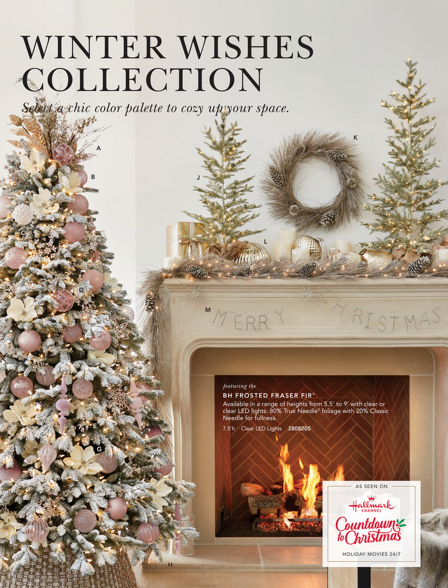 Balsam Hill 2020 Holiday 2 Winter Wishes Rose Gold Snowflake Ornament Set